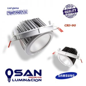 Downlight basculante redondo, Led SAMSUNG 60w, 60º