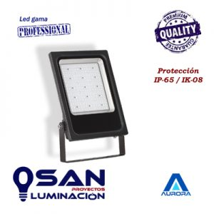 Proyector Led slim PRO, IP-65, IK-08 ( Black ) 4000K