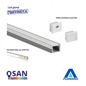 Perfil de aluminio para tira led y accesorios.