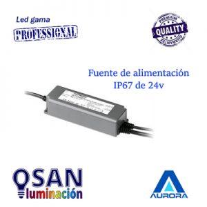 Fuente de alimentación IP67 de 24v hasta 90w Serie AU-LEDD9024
