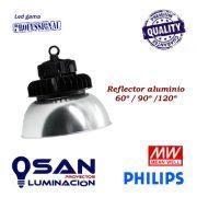 Reflector aluminio 60º/90º/120º