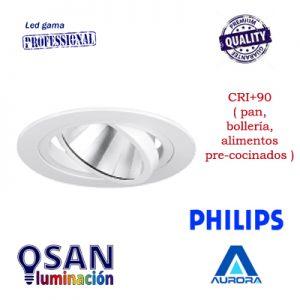 Downlight basculante redondo led cob PHILIPS (pan, bollería, alimentos pre-cocinados)