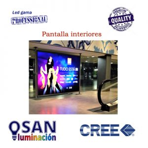 Vídeo pantallas LED multimedia para fachadas de interior