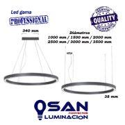 Lineal Led opal circular High Performance, modular configurable medidas