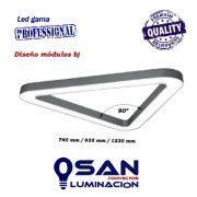 Lineal Led opal triangular High Performance, medidas módulos b)