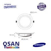 Downlight opal Led Samsung 48w medidas