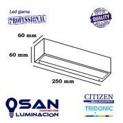 Aplique pared exterior IP-65 Led 9w ( rectangular ) medidas