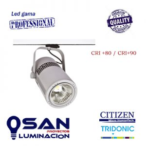 Foco de carril Cylinder Pro CRI80-CRI90
