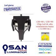 Foco de carril Led 94w Reflector Pro Maxi CRI80-CRI90 vista lateral