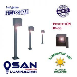 Baliza solar Led 2w vertical con sensor de movimiento ( placas solares )