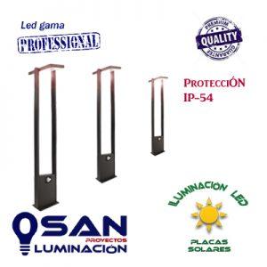 Baliza Led vertical ( Solar ) 1,60w sensor presencia/crepuscular