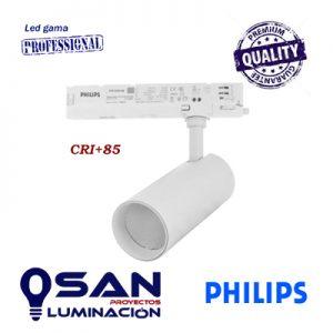 Foco de carril Cylinder I, Led  PHILIPS , CRI+85, 36º