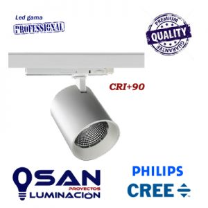 Foco de carril Gallery PRO, Led CREE/PHILIPS , CRI+90