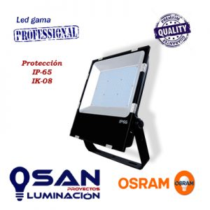 Proyector slim, IP-65, IK-08, Led OSRAM