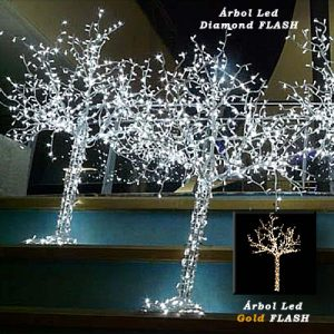 Árbol Led Diamond - Gold II FLASH