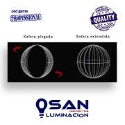 Esfera Led Venus 3D plegada – extendida